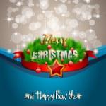 Elegant Classic Christmas flyer — Stock Vector