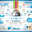 Infographic with Cloud Computing concept -  