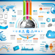 Infographic with Cloud Computing concept - Stock vektor