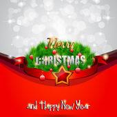 Elegant Classic Christmas flyer — Stockvector