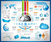 Infographic with Cloud Computing concept — Vecteur