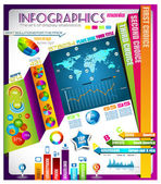 Infographic with a lot of design elements — Stock Vector