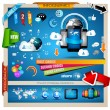 Infographic with Cloud Computing concept — Stock Vector