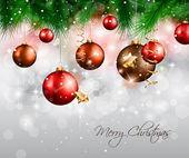エレガントな古典的なクリスマスの背景 — ストックベクタ