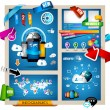 Infographic with Cloud Computing concept — Cтоковый вектор #16345475