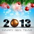 2013 New Year Celebration Background — Imagens vectoriais em stock