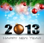 2013 新年のお祝いの背景 — ストックベクタ