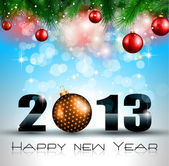 2013 New Year Celebration Background — Vetorial Stock