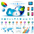 Infographic elements for cloud computing — Stock Vector