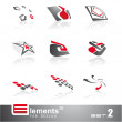 Abstract 3D Elements - Set 2 — Stock Vector