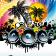 Stock Vector: Music Event Discoteque Flyer