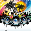 Music Event Discoteque Flyer — Stock Vector
