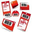 Sales Tag with Barcode — Stock Vector