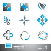 Abstract 2D Elements - Set 1 — Stock Vector