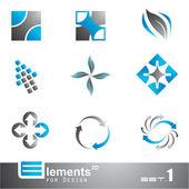 Resumen 2d elementos - set 1 — Vector de stock