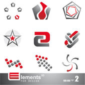 Abstract 2D Elements - Set 2 — Stock Vector