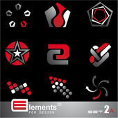 Abstract 2D Elements - Set 2a — Wektor stockowy