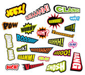 Comic Word Expressions - Set 2 — Stock Vector