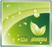 Sfondo verde bio — Vettoriale Stock