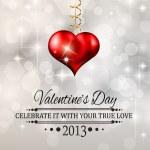 Elegant Valentine's Day background — Stock Vector
