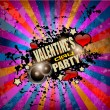 Valentine's Day party flyer background — Stock Vector