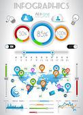 Infographik elemente - qualität set — Stockvektor