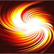 Background with hot colorful abstract vortex design - Stock Vector