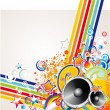 Music Colorful Abstract Background — Stock Vector