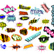 Stock Vector: Comic Word Expressions
