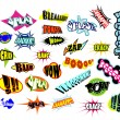 Comic Word Expressions - Stock Vector