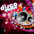 Disco Colorful Flyer Background - Stok Vektr