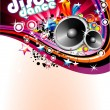Disco Colorful Flyer Background — Stock Vector
