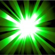 Green rays Explosion - Stock Vector