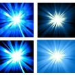 Set of Ray lights Explosion — Stock Vector