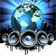 World Music Event Background — Stock Vector