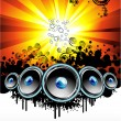 Disco Music Event Background — Image vectorielle