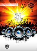Disko müzik olay arka plan — Stok Vektör
