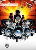 Fondo de música y discoteca — Vector de stock