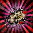 Valentine's Day party invitation flyer background — Stock Vector