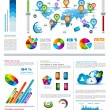 Infographic elements - set of paper tags — Imagen vectorial