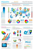 Infographic elements - set of paper tags — Vector de stock