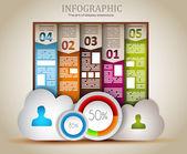 Infographic elemanları - bulut ve teknoloji — Stok Vektör