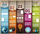 Infografía elementos - cloud y tecnología — Vector de stock