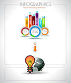 Infographic prvky - cloud a technologie — Stock vektor