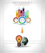éléments d'infographie - nuage et la technologie — Vecteur