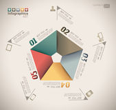 Infographic design - original paper — Stock Vector