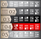 Infographik elemente - papier-tags festlegen, — Stockvektor