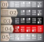 Plansza elementów - zestaw znaczników papieru, — Wektor stockowy