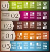 インフォグラフィックの要素 - 紙タグのセット, — ストックベクタ
