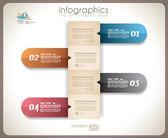 инфографики дизайн - оригинальный документ теги — Cтоковый вектор